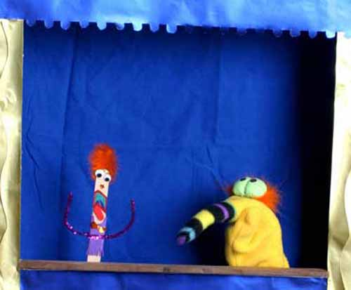 Punky and Fink Bird puppets